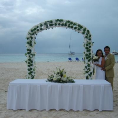 Ambiance VIllas Beach Ceremony Set Up
