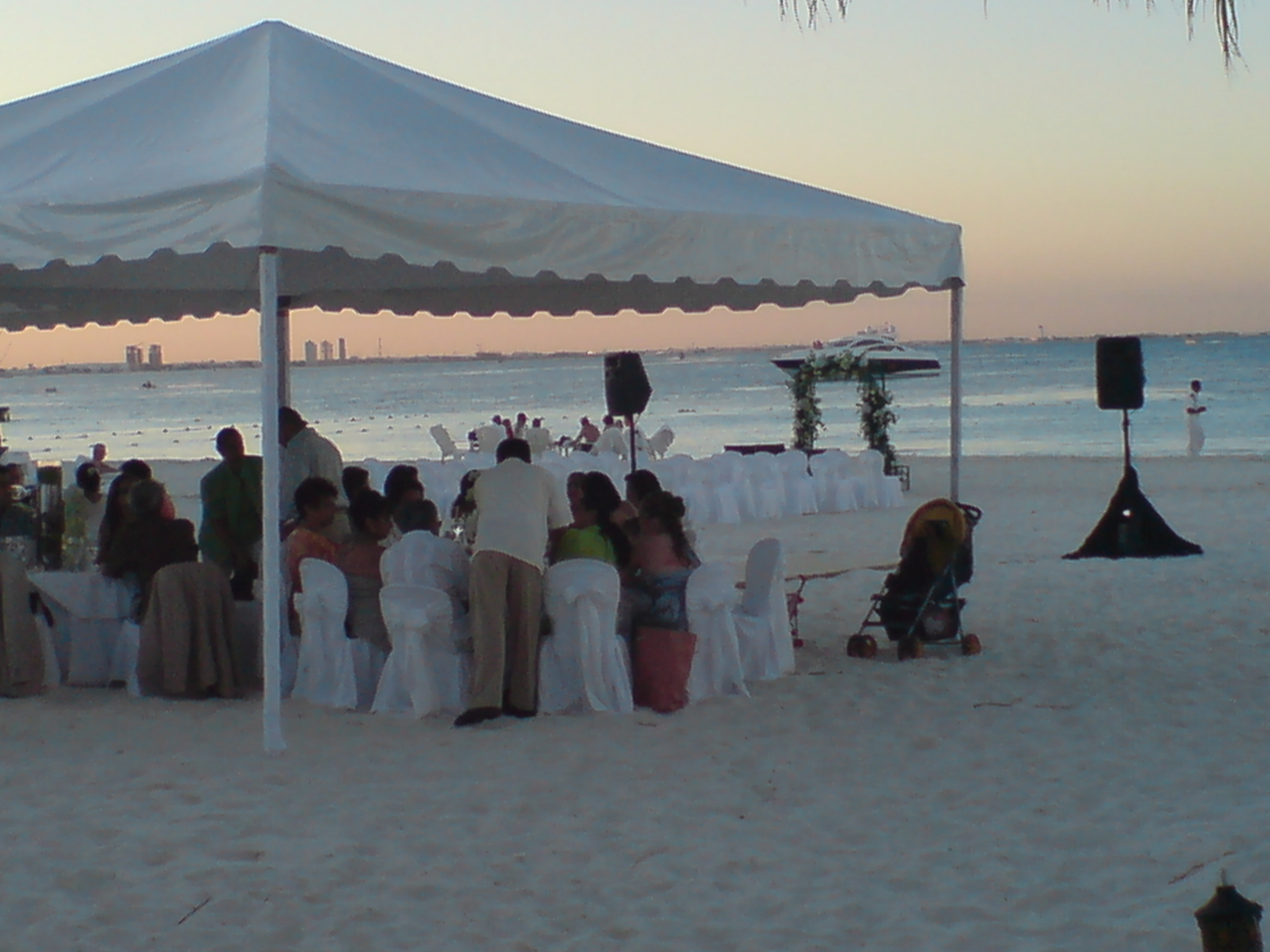 Ambiance Villas Beach Dinner Set Up
