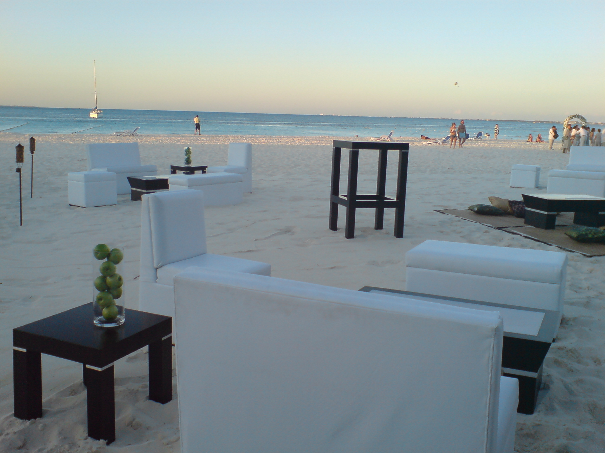 Ambiance Villas Beach Lounge Set Up