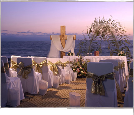 Beach Front Wedding Set Up