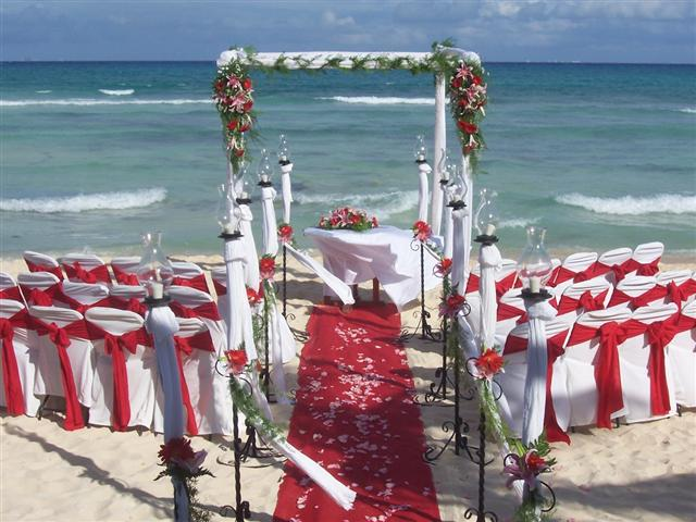 Blue Parrot Ceremony Beach Set Up B