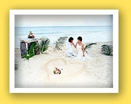 Las Palapas Wedding Heart