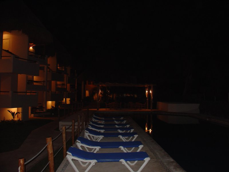 Petit Lafitte Pool at Night