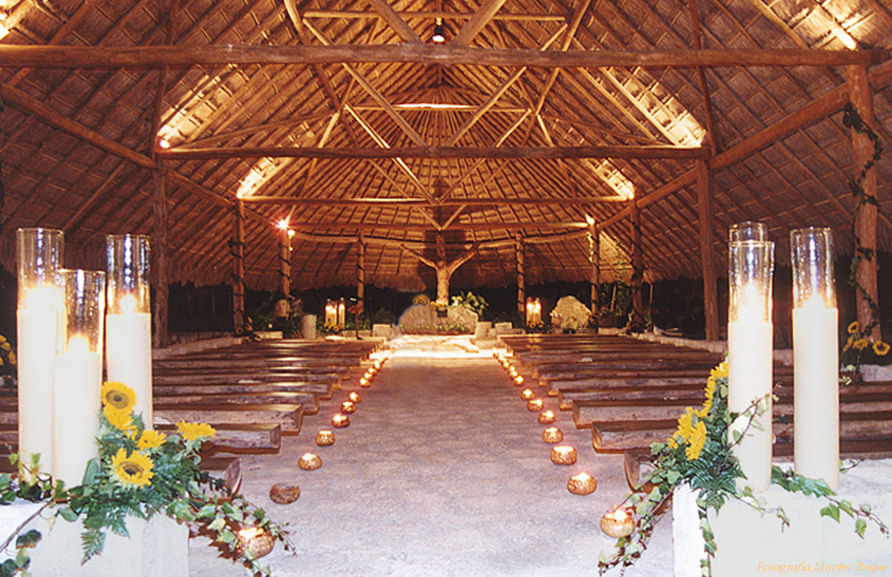 Xcaret chapel wedding